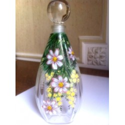 HAND PAINTED TOILET BOTTLE 75 ML - SINGLE PIECE - 2 SIDED DECOR