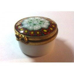 LIMOGES PORCELAIN PILL BOX AND VENICE MURINES