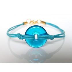 Bracelet Eulalia aigue turquoise