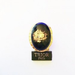 ADJUSTABLE GOLD PORCELAIN RING - FRAGONARD BLEU DE FOUR DECOR