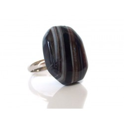 Carroussel black agate ring
