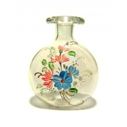 SOUFFLE GLASS PERFUME FLASK GOLD POWDER SHAPE WATCH BOUQUET DECORATION