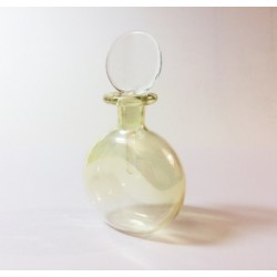 YELLOW BLOWN GLASS PERFUME FLASK SHAPE WATCH