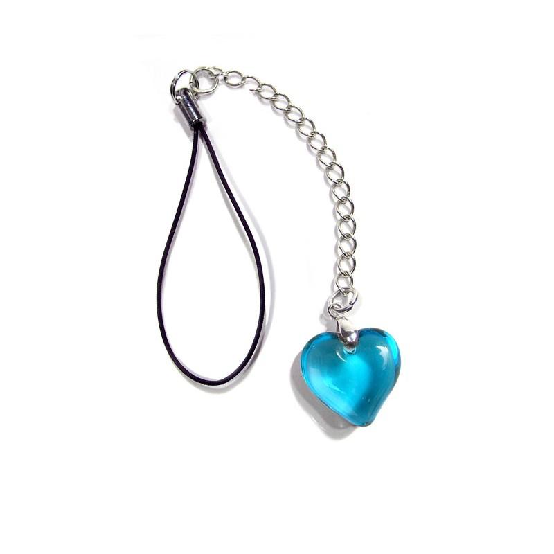 Bijou de portable Valentinette aigue turquoise