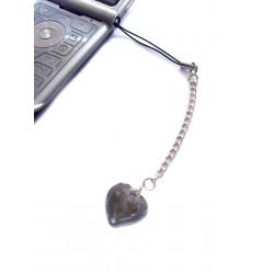 Bijou de portable Valentinette gris