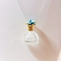 MINIATURE PERFUME PENDANT SHAPED CRYSTAL BAG DECORATED STOPPER GIFT LOVE