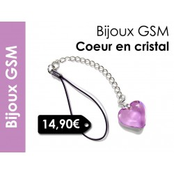 Bijou de portable Valentinette lilas