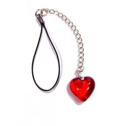 Bijou de portable Valentinette rouge