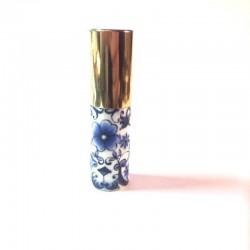 LARGE RECHARGEABLE OPALINE GLASS BAG VAPORIZER DECOR DELFT