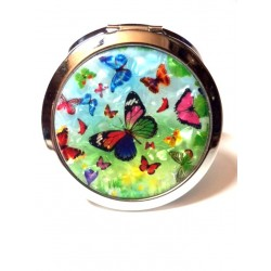 DOUBLE-SIDED ICE BAG DECOR FLIGHT OF BUTTERFLIES ON MOTHER-OF-PEARL BACKGROUND