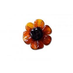 Round French crystal topaz daisy ring