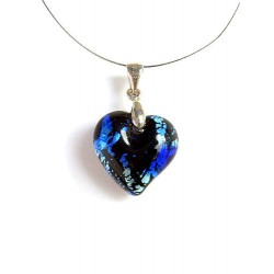 LITTLE SAPPHIRE SILVER LEAF CRYSTAL NECKLACE