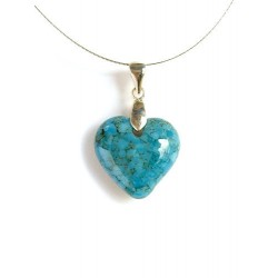 LITTLE HEART CRYSTAL NECKLACE MATRIX COLOR