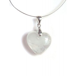 LITTLE HEART CRYSTAL NECKLACE COLOR WHITE CLOUD