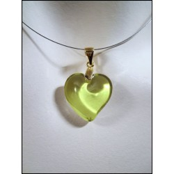 LITTLE HEART CRYSTAL NECKLACE IN ABSINTHE