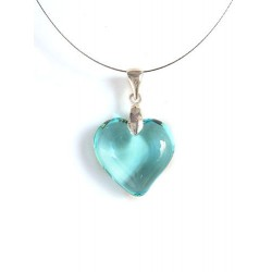 LITTLE HEART CRYSTAL NECKLACE ACUTE COLOR PASTEL