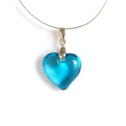 LITTLE HEART CRYSTAL NECKLACE ACUTE TURQUOISE