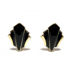 BLACK EMAIL CLIPS EARRING