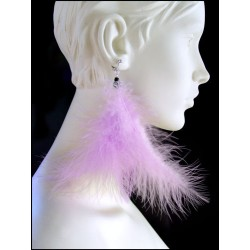LILAC FEATHER CLIP EARRINGS OR EARRINGS TO BE PRECISE