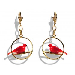 Colombine Red earrings