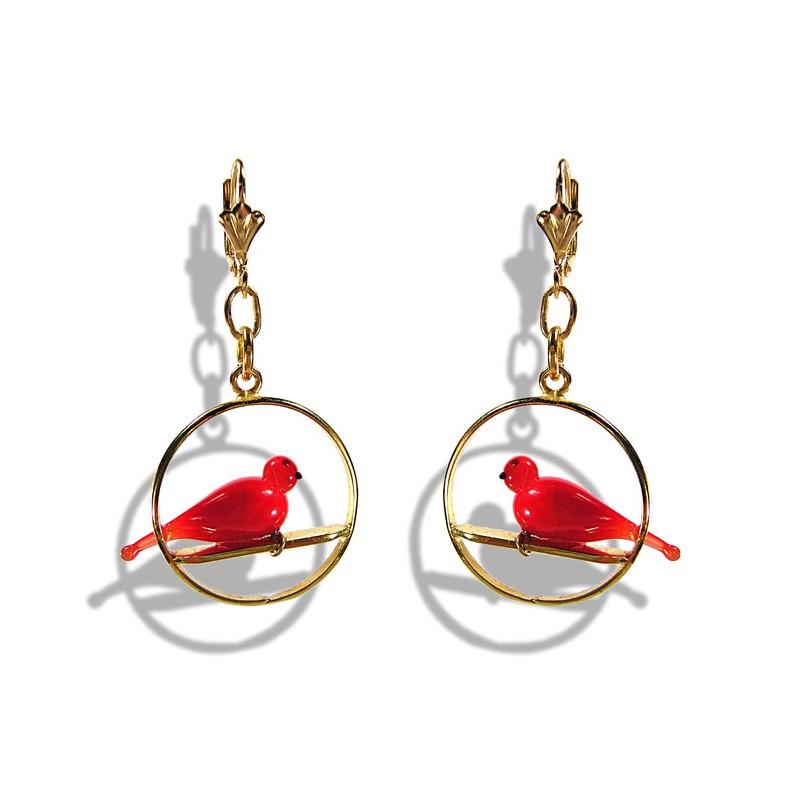 Colombine Red earrings