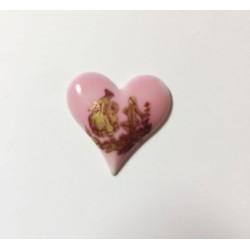 1 PORCELAIN LIMOGES HEART ROSE 24/24 MARQUIS GOLD 24K