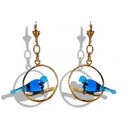 Colombine turquoise earrings