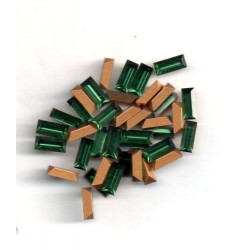 20 STRASS BAGUETTES - ART 4501 - 7X3 - GREEN TOURMALINE