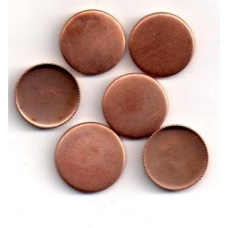 10 ROUND COPPER CUPS OUTSIDE DIAMETER 16 MM