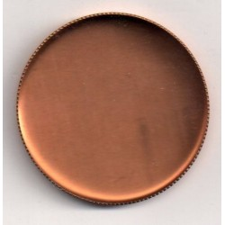 5 ROUND COPPER CUPS, INTERNAL DIAMETER 35 MM