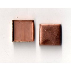 5 SQUARE CUPS INTERIOR COPPER 10X10 MM