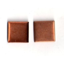 5 SQUARE CUPS INTERIOR COPPER 17X17 MM
