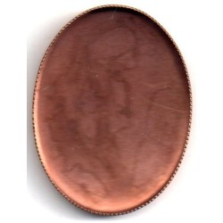5 INTERIOR COPPER OVAL CUVETTES 40X30