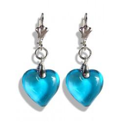 Boucles d'oreilles Valentinette aigue turquoise