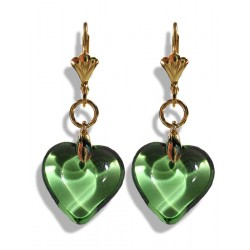 Valentinette chartreuse earrings