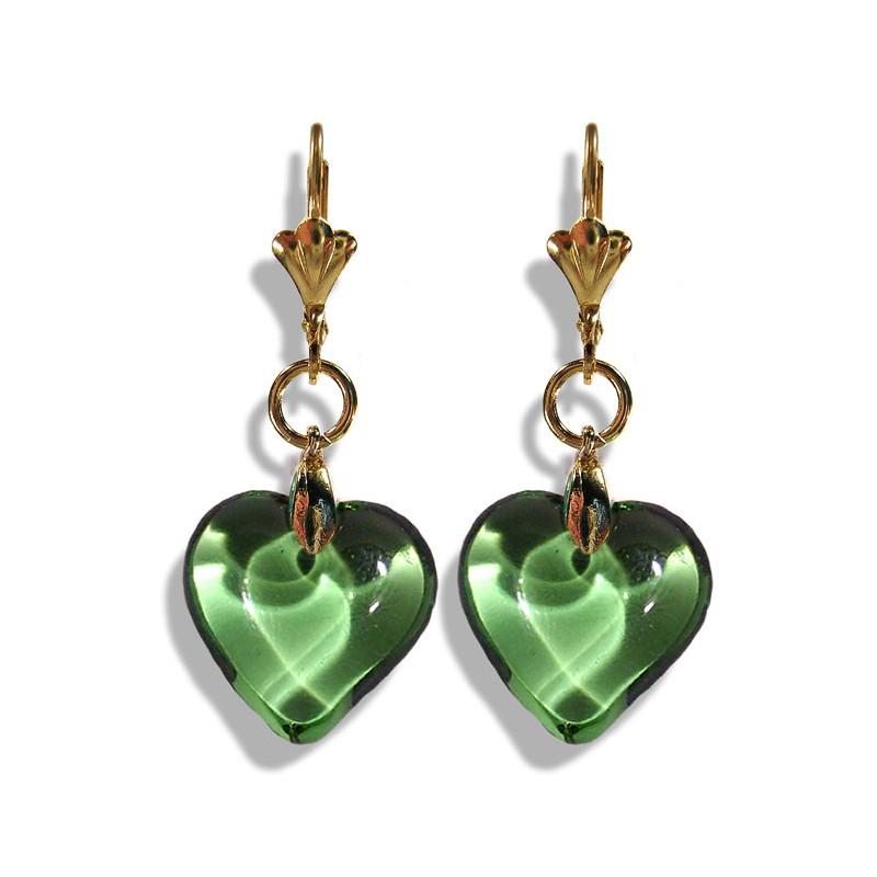 Boucles d'oreilles Valentinette chartreuse