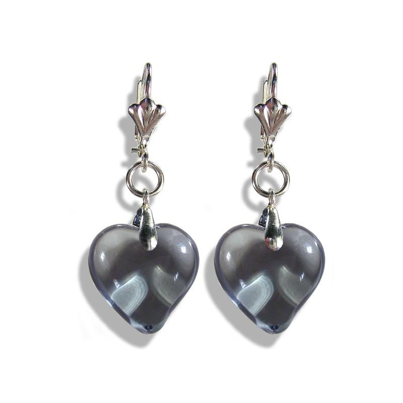 Boucles d'oreilles Valentinette gris