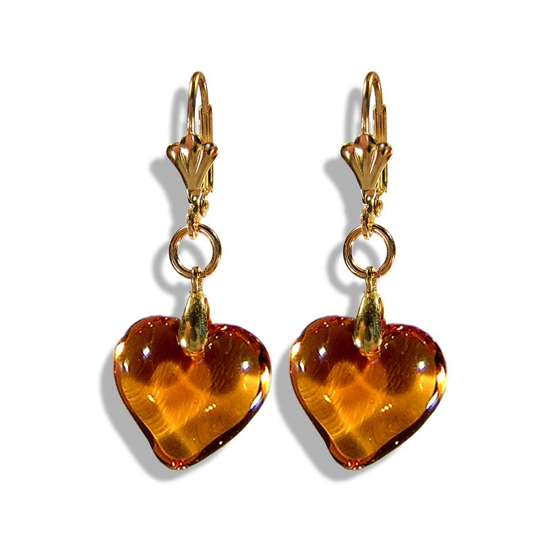 Valentinette honey earrings