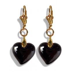Boucles d'oreilles Valentinette noires