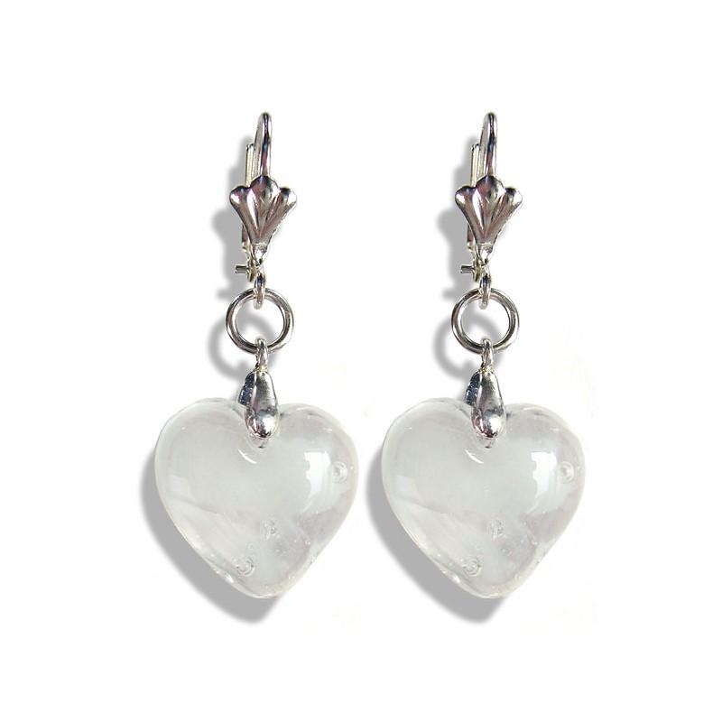 Boucles d'oreilles Valentinette nuage blanc