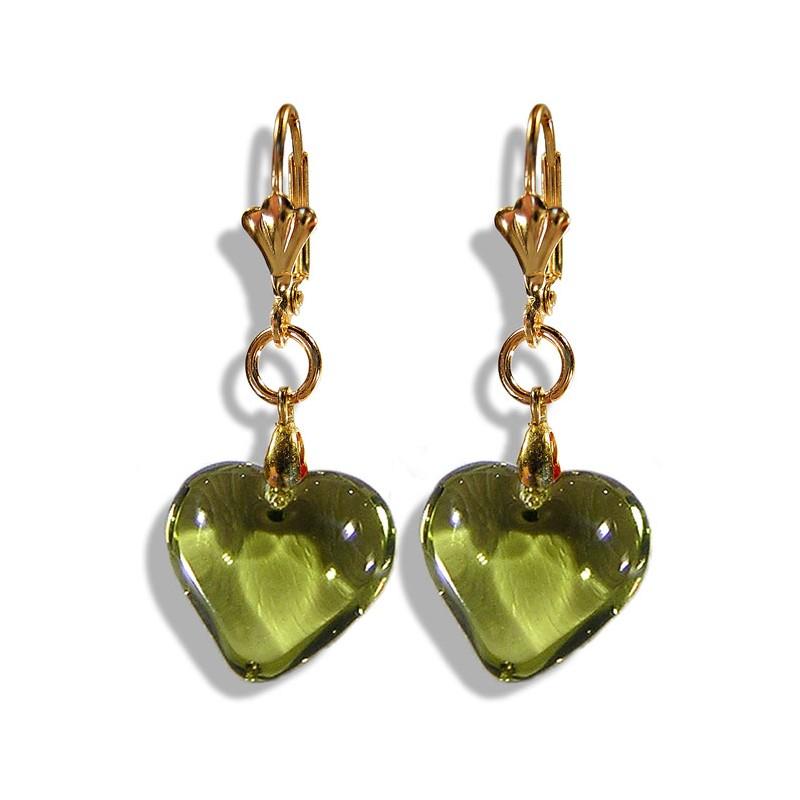 Boucles d'oreilles Valentinette olivine