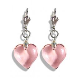 Boucles d'oreilles Valentinette rose