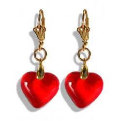 Boucles d'oreilles Valentinette rouges