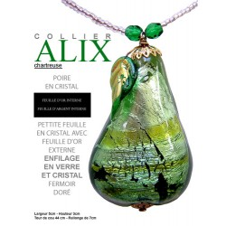 Alix chartreuse necklace