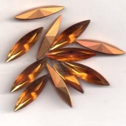 STRASS SHUTTLE 4200 - 6 SHUTTLES 18X5 TOPAZ GOLD