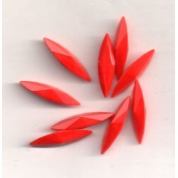 STRASS NAVETTE 4200 - 6 SHUTTLES 15X4 CHERRY RED