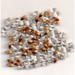 copy of STRASS NAVETTE 4200 - 10 NAVETTES 15X7 BLANC RIZ