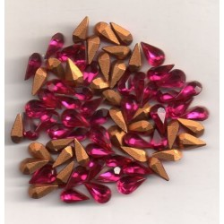 20 POIRES STRASS ARTICLE 4300/2 - 6X3.6 RUBIS