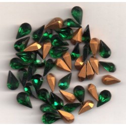 10 STRASS PEARS ARTICLE 4300/2 - 4.8X8 EMERALD
