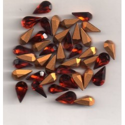 10 STRASS PEARS ARTICLE 4300/2 - 4.8X8 MADERE TOPAZE